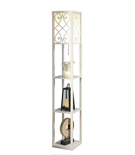 MEHE@ modpersonalidad creativo Lámpara de mesita de noche lámpara de pasillo de sala de estar lámpara de cabecera de dormitorio Lámparas de pie ( Color : Blanco )
