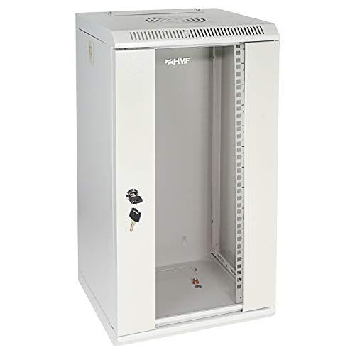 HMF 63312-07 Serverschrank 10 Zoll, 12 HE, Netzwerkschrank, Wandschrank, 10