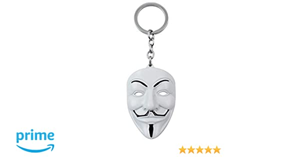 Anonymous White V For Vendetta Face Mask Metal Collectable