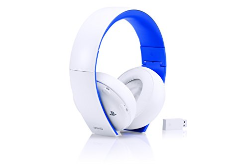 Sony - Auriculares Inalámbricos Stereo, Color Blanco (PS4, PS3, PS Vita)