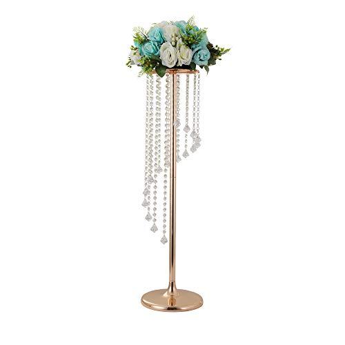 Lanlong Centre de table pour mariage Hauteur 90 cm Support pour bougies, fleurs Décoration pour...