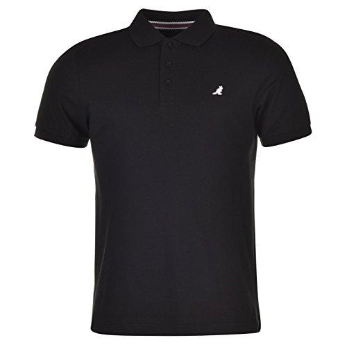 Kangol Brit Fit Herren Polo Poloshirt T Shirt Tee Top Kurzarm 3 Knoepfe Kragen L (Top Drei-knopf)
