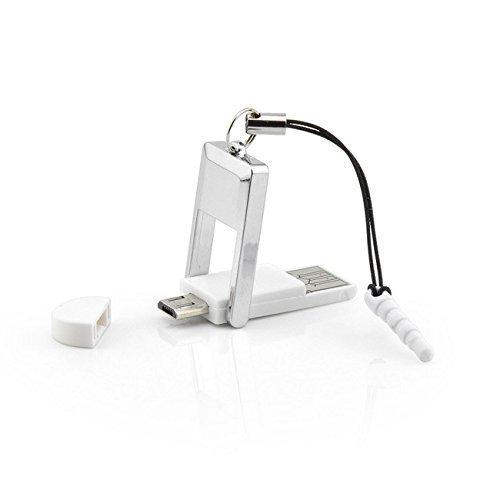 2 in 1 OTG Adapter - On-The-Go - Kartenlesegerät für Smartphones und Tablets mit 2.0 Micro USB Anschluss   MicroSD & SDHC Camera Lite Kit