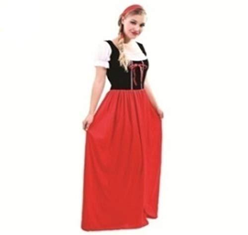 Renaissance Lady Maid Marion Wench Oktoberfest Ladies Fancy Dress Costume Size ()