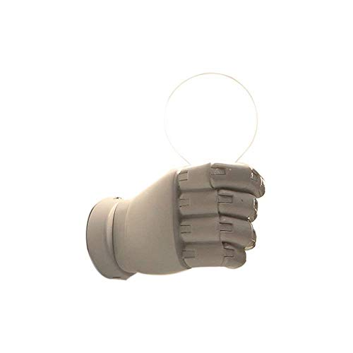 FUSKANG Applique, Applique base nera bianca, Applique a parete, Applique stretta di mano, Applique per interni, Applique 1 luce (Color : White-Right hand)