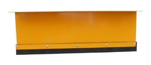 Schneeschild für Aufsitzmäher / Stahl Gekantet / 125 cm breit / 40 cm hoch / Gelb / Schwenkbares Schild / Wechselbare Gummischürfleiste / Stiga Villa Park