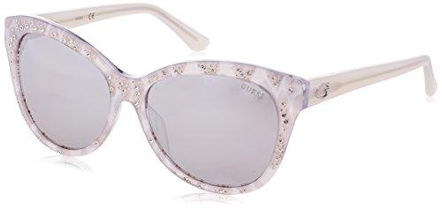 Guess Damen GU7437 5624C Sonnenbrille, Silber, 56