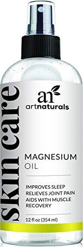 Aceite de magnesio puro en aerosol de ArtNaturals; 355ml; reduce la migraña, el dolor muscular, alivia las articulaciones, el estrés, la ansiedad, los períodos de dolor y ayuda a dormir