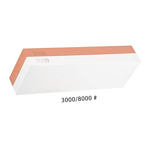 LIXUAN MesserschäRfer, Doppelseitig 2-IN-1WeißEr Korund Wetzstein Abziehstein FüR Messer KöRnung Schleifstein Rutschfeste Basis, Red-White, 3000#/8000#