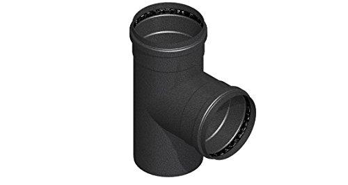 Comptes–senotherm noir mat d. 100Céramique SP. 1,2pour cuisinières à pellet–Tube courbe accessoires–-Courbe à 45°