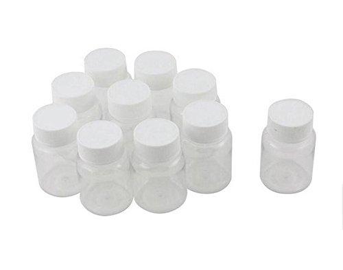12 PCS 50 ml Vide Portable En Plastique Solide Poudre Médecine Chimique Bouteilles Pilule Tablet Titulaire De Stockage De Conteneur Cas Boîte (50 ml)