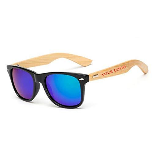 ZHOUYF Sonnenbrille Fahrerbrille Benutzerdefinierte Logo Bambus Fuß Sonnenbrillen Frauen Original Holz Sonnenbrillen Customerized Männer Holz Sonnenbrillen 20 Teile/Satz Großhandel, E