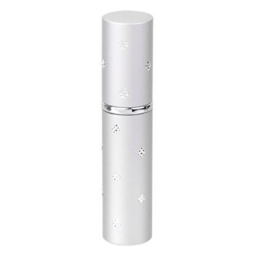 Mini Atomiseur de Parfum Vaporisateur Rechargeable Bouteille Vide en Alliage 6ml pour Voyage - Argent