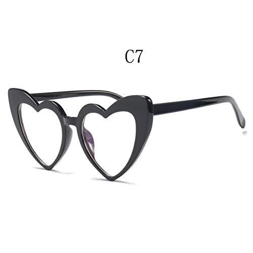 Taiyangcheng occhiali da sole a forma di cuore donna cat eye love heart occhiali da sole,c7