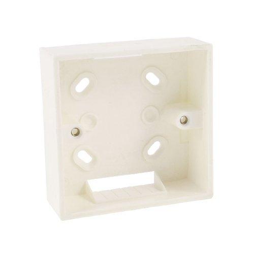 Sourcingmap - Piastra a muro beige posteriore scatola per 86mm prese rj45 frontalino