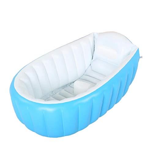 IUwnHceE 1pcs Aufblasbare Badewanne Große Kapazitäts-Kunststoff Air Pool Faltbarer Spielraum Air Dusche Waschbecken Für Baby-Kind-Kleinkind-Blau