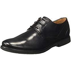 Ruosh Men's Black Leather Formal Shoes