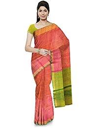 sailakshmiprasanna Uppada Handloom Women's Cotton Saree (Pink)