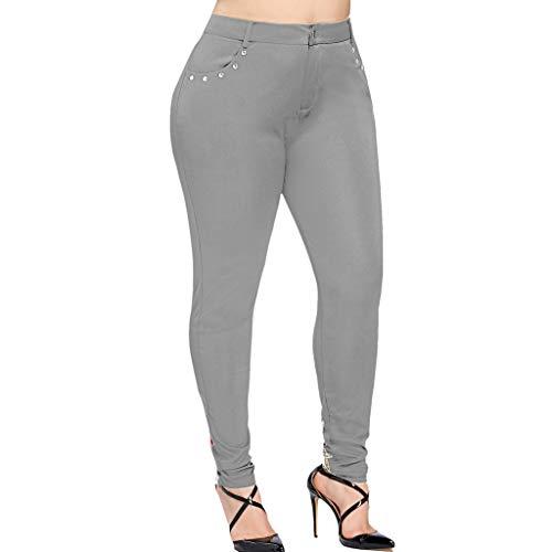 Asalinao Damen Hosen Leggings Gamaschen Frauen Casual Plus Size Hohe Taille Perlen Rose Applique Strumpfhosen Leggings Hosen