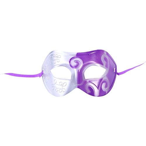 Zauberer Oz Einfach Kostüm Von Der - Holibanna Halloween Maske Halbe Gesichtsmaske Partei Gravur Maskerade Parteibevorzugungen Dress-up Kostüm Kreative Geschenk für Männer