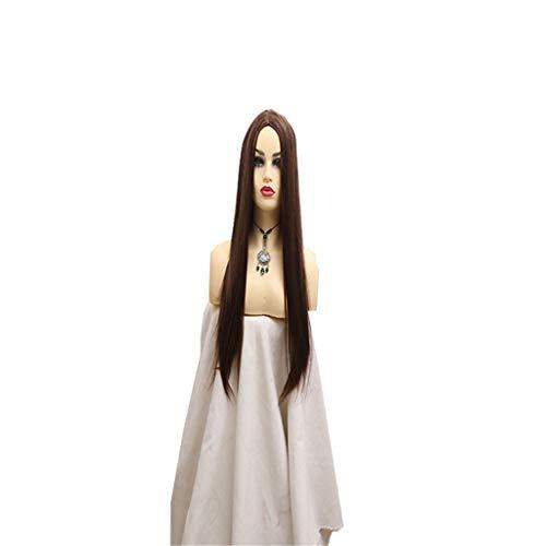 Verkauf Kostüm Für Elsa - QIANJIN Hochtemperaturdraht Heißer verkauf in glattes haar Cosplay Mittellange glatte Perücke weiblich Hitzebeständige Kunstfaserperücke Dunkelbraun