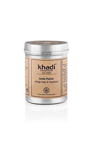 Khadi reines Amla Pulver 150g I Ayurvedisches Pflege der Kopfhaut I Stärkt die Haarwurzeln I...