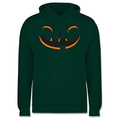 Shirtracer Halloween - Kürbisgesicht Kostüm - XL - Dunkelgrün - JH001 - Herren Hoodie