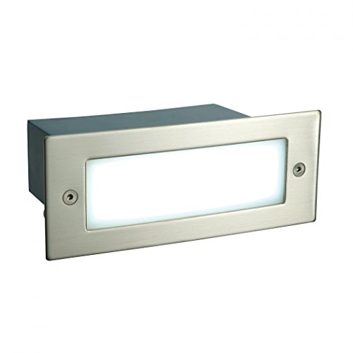 saxby-kia-1w-brushed-stainless-steel-modern-outdoor-garden-ip44-recessed-led-wall-brick-light