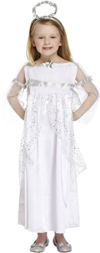 Children's Girls Christmas Angel Nativity Fancy Dress Costume-4-6 (Chorus Kostüm Girl)