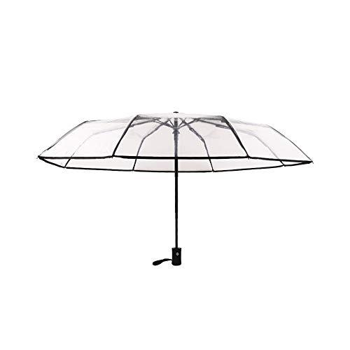 WJFKDFC Vollautomatischer Regenschirm Rian Women Für Herren Sun Rain Taschenschirm Rainproof Clear Rain Gear Auto -