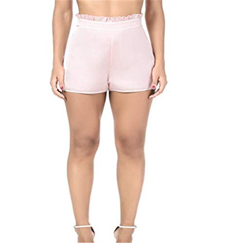 SHANFENGSHIYEJPSD Mode lässig Yoga hohe Taille Split Shorts Pink XL (Seahawk Tom Schuhe)