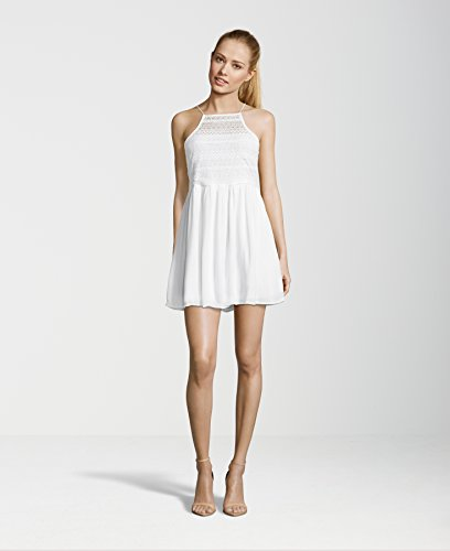 Even&Odd Sommerkleid Damen mit Spitze in Rot, Schwarz o. Creme-Weiß, uni �?Spitzenkleid kurz Sommer aus Baumwolle �?Minikleid mit Spaghettiträger Off-White