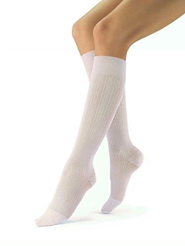 BSN medical Socke, Knie hoch, 30-40mmHg, Brokat, XL, White Brocade, 1 -