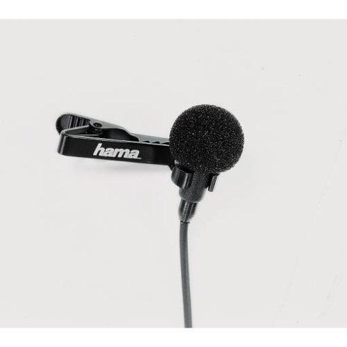 Hama Lavalier-Mikrofon für Camcorder, LM-09, 6 m Kabellänge, Schwarz