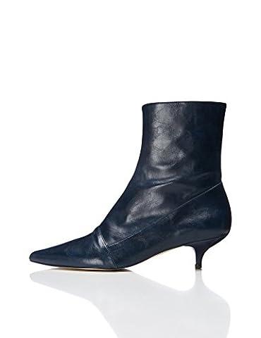 FIND Stiefel mit Kitten-Heels, Blau (Blue), 40 EU (Schuh Pumps)