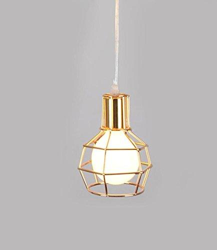 ogel Käfig schmiedeeiserne Leuchter, zum modernen minimalistischen Speisesaal Kronleuchter Vogelkäfig Kronleuchter , gold (Gold Vogel Käfig)