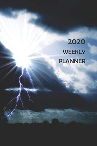 2020 Weekly Planner: 12 Month Daily Weekly Monthly Organizer Schedule To Do Appointments, Sun Peaking Through Thunderstorm Lightning Clouds Cover Theme