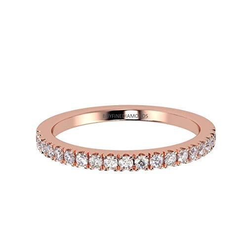 BuyFineDiamonds Femme Or 375 Or rose 9 carats Rond brillant Diamant