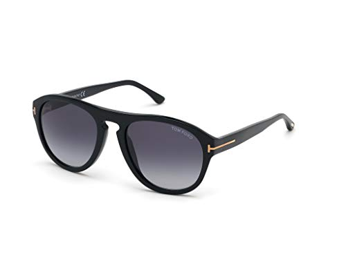 Sonnenbrillen Tom Ford AUSTIN-02 FT 0677 BLACK/BLUE SHADED Unisex