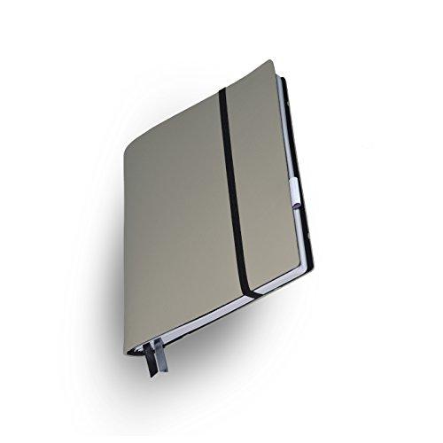 Whitebook Soft S210-ML, modulares Notizbuch, Veaux Prestige, geschnitten, Gris Perle, 240 S. Papier FSC (iPad Mini & Samsung Tab 8