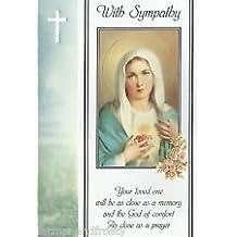 Con simpatía Tarjeta de religiosa Virgen María aflicción