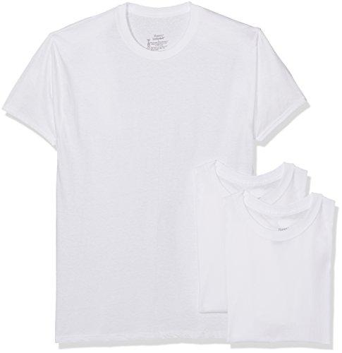 Hanes Herren Funktionsunterwäsche T-Shirt Girocollo (Crew Top) Bianco (White)