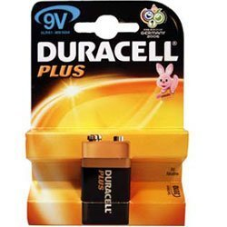 2-Power Duracell Plus Power 9 V 1 Lot