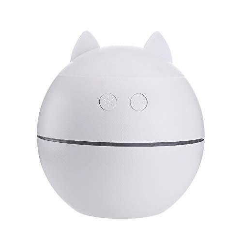 Dtuta Luftverdunster, Luftbefeuchter Baby Mliter,3 In 1 Fan Nachtlicht Leise, Feuchtigkeitsspendend Nettes Katzenohrenvernebler-Hausauto-Kindergeschenk