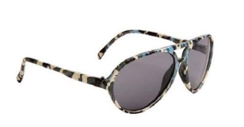 Camo Blau Jungen Aviator Sonnenbrille kühle Farbtöne Kinder Kinder Kleinkinder 100% UV-Schutz 64