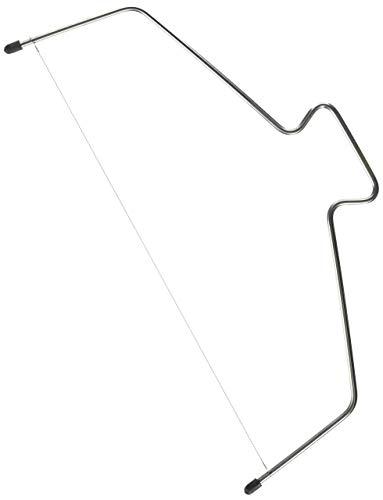 KAISER Tortenbodenschneider 38 cm Pâtisserie höhenverstellbarer Schneidedraht hochwertige Verarbeitung aus rostfreiem Edelstahl Gummifüße