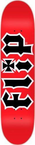 Flip HKD Skateboard Deck, rot / schwarz