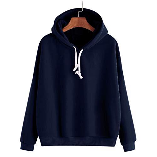 Sweatshirt Damen Kapuzenpullover Langärmliges Hoodie ABsoar Pullover mit Kapuze Pullover Tops Jumper Bequem Samt Bluse mit Rundhalsausschnitt