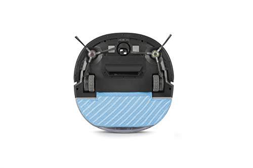 ECOVACS Robotics DEEBOT OZMO Slim10 Aspira y friega en una pasada, control y programación mediante App, diseño ultra plano para suelos duros, color negro