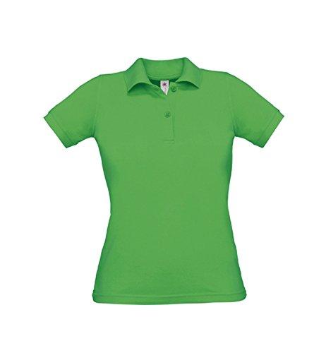 Donne Safran Polo Polo femminile abbracciare corpo Real Green